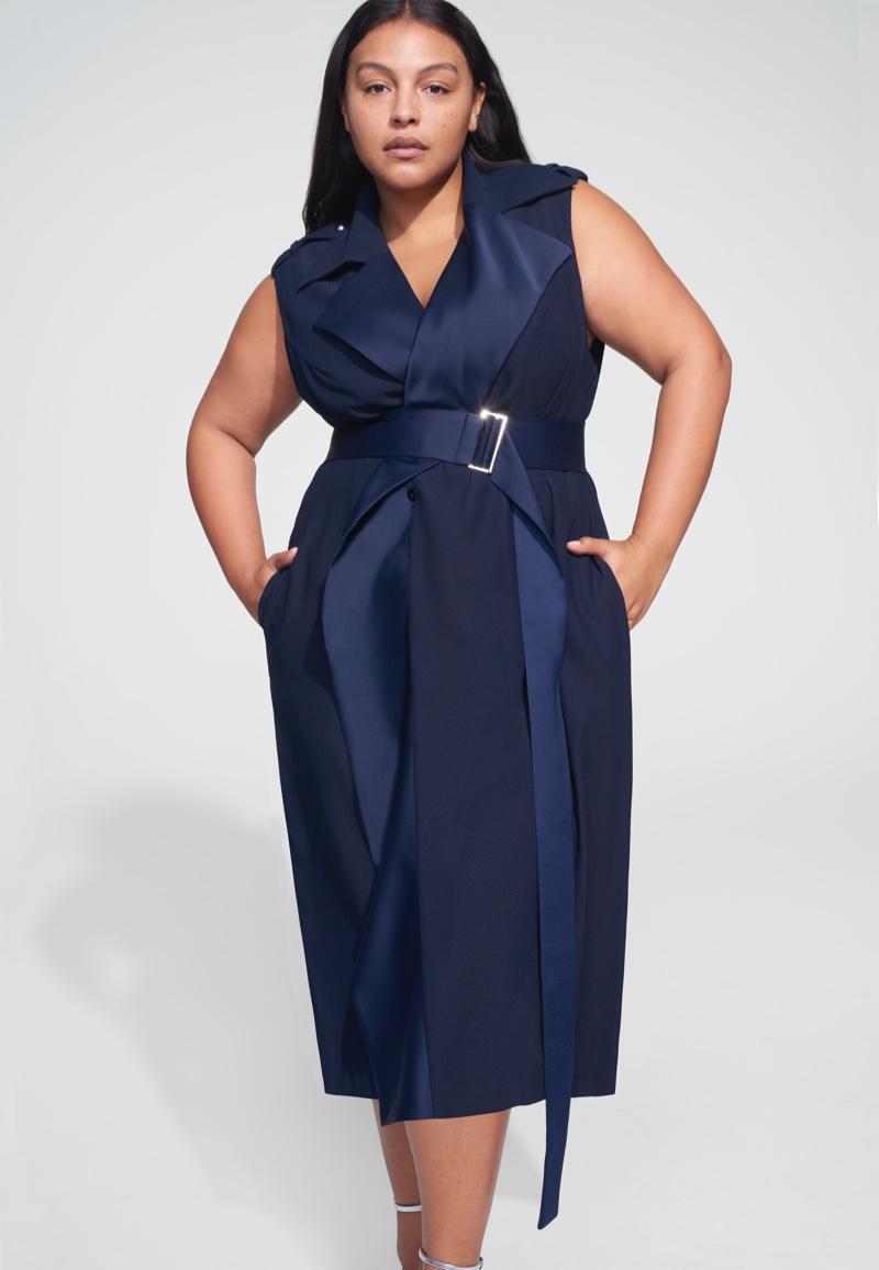 Jason Wu x ELOQUII Sleeveless Trench Dress $110.95