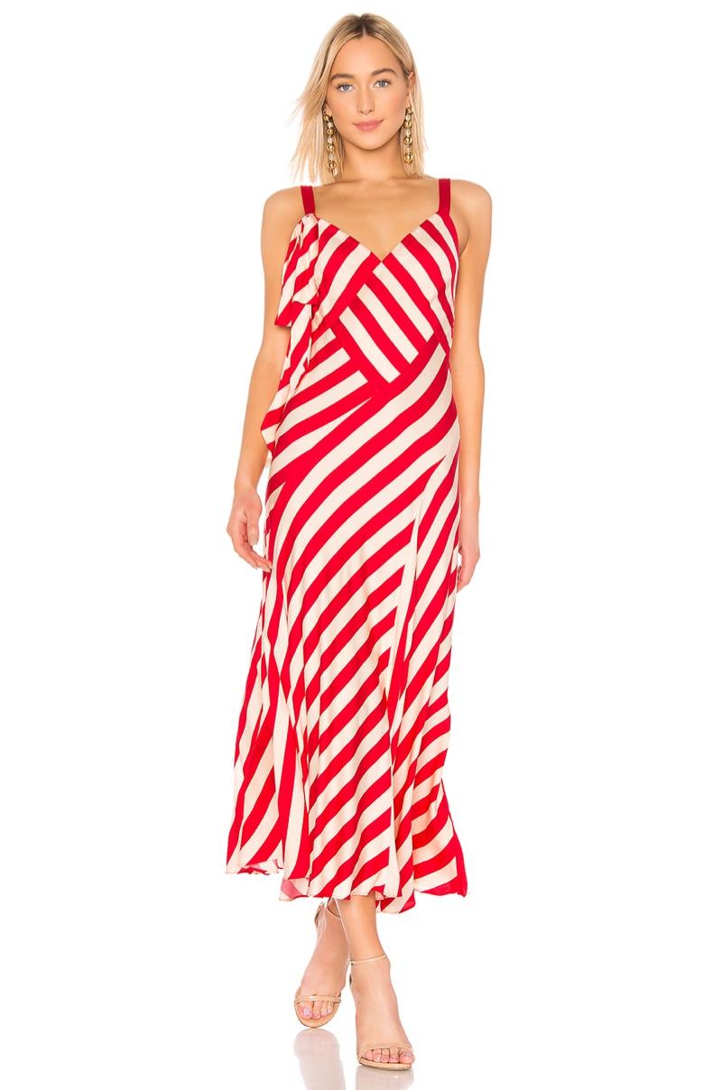 Jill Jill Stuart Clara Striped Maxi Dress $318
