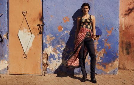 Julia Van Os Poses in Biker Styles for Vogue Arabia