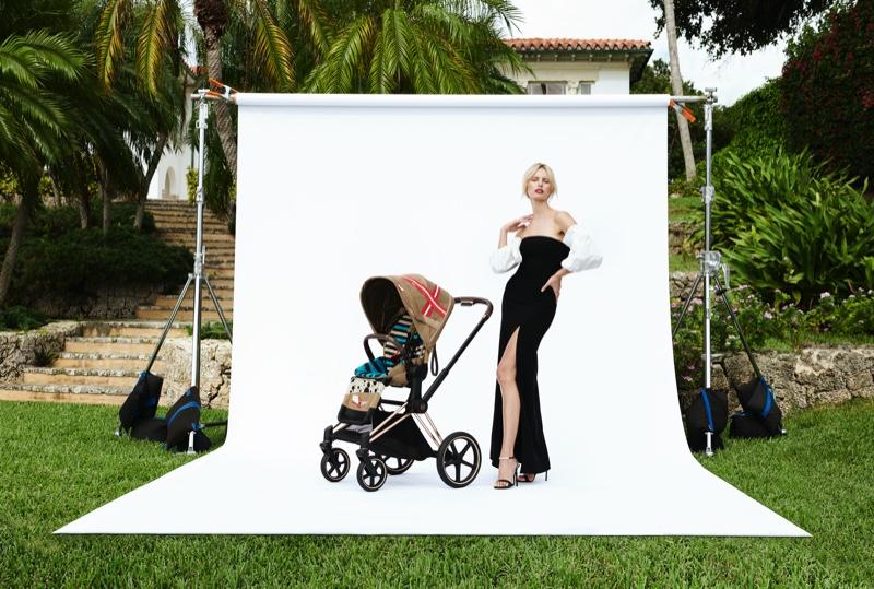 Striking a pose, Karolina Kurkova fronts Cybex collaboration campaign