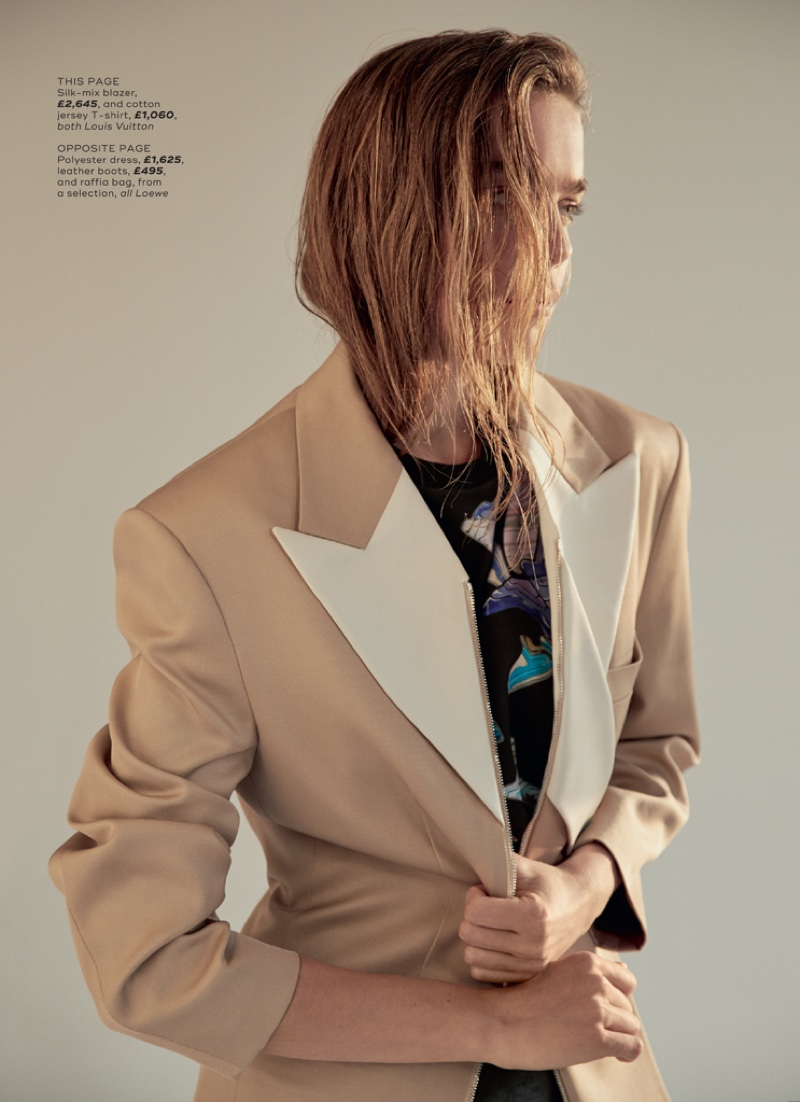 Kim Noorda Wears Relaxed Styles for Marie Claire UK