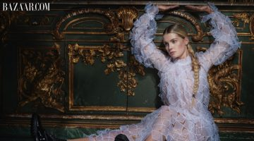 Princess Diana's niece, Kitty Spencer, poses in Christopher Kane dress and Tamara Mellon boots