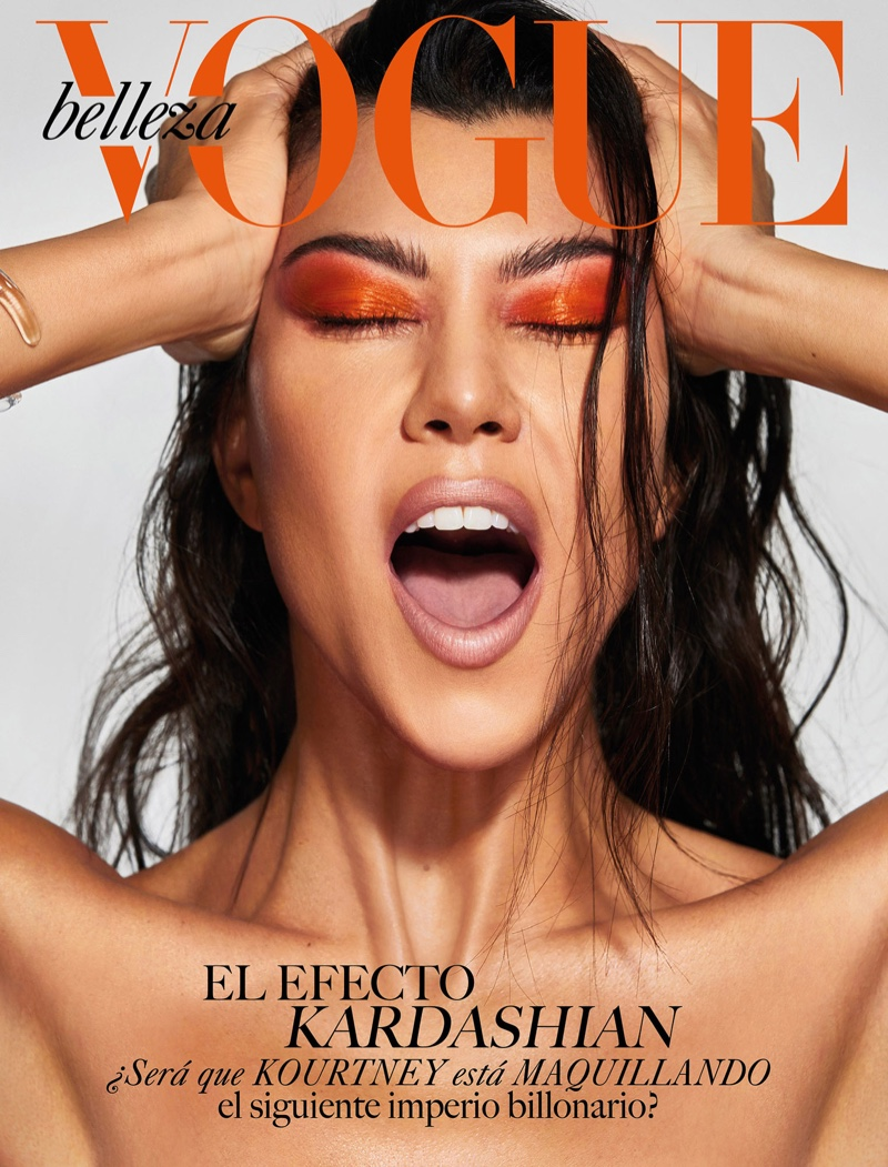 Kourtney Kardashian for Vogue Mexico Beauty April 2019 Cover