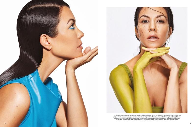 Kourtney Kardashian wears bold beauty looks