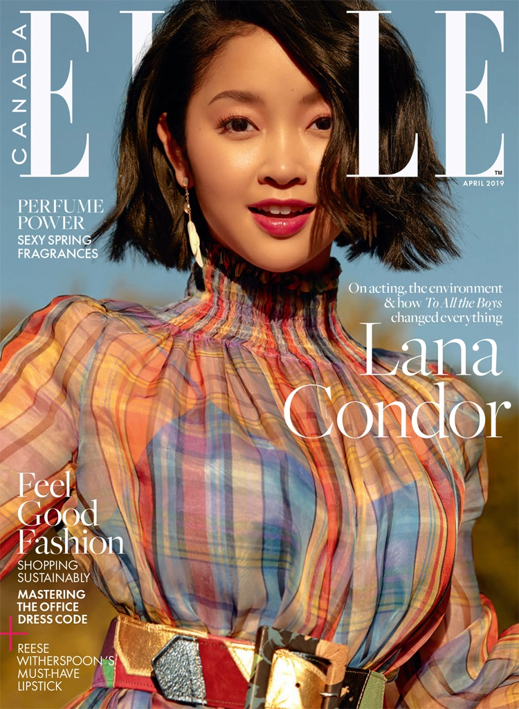 Lana Condor on ELLE Canada April 2019 Cover