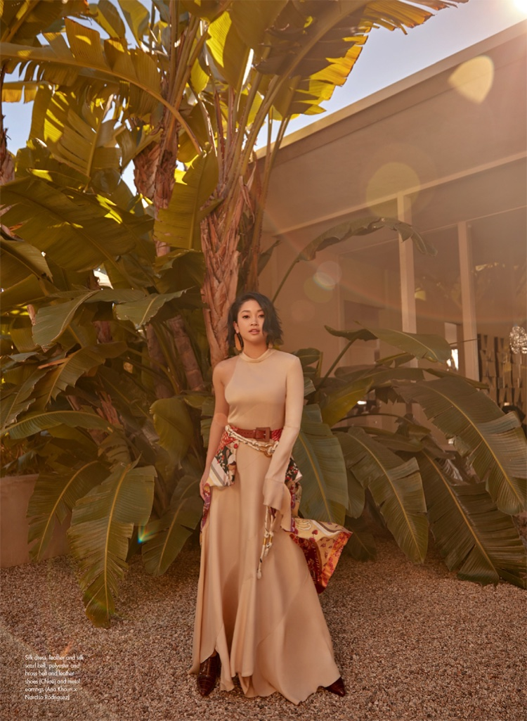 Actress Lana Condor wears relaxed Chloe look