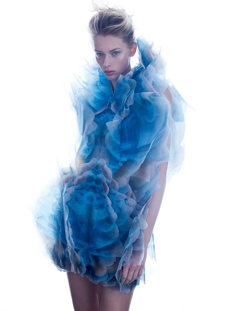 Lauren de Graaf Charms in Haute Couture for Vogue Taiwan