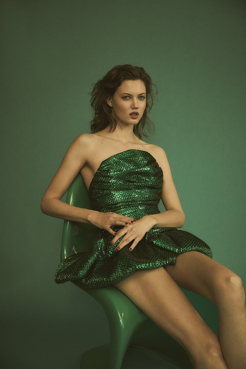 Lindsey Wixson Wears Rich Jewel Tones for Vogue Hong Kong