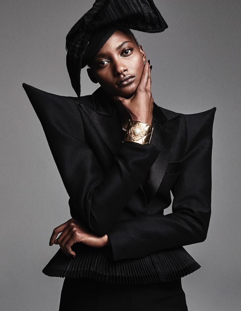 Mame Camara Models Couture Fashion for Vogue Arabia