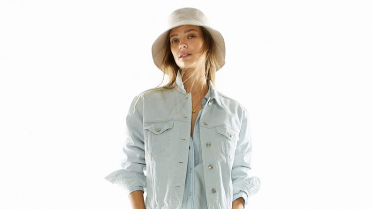 Ine Neefs has the blues in Mango's spring 2019 denim styles