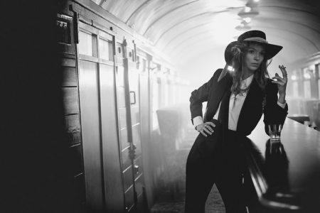 Mariacarla Boscono Charms in Black & White for Twin Magazine