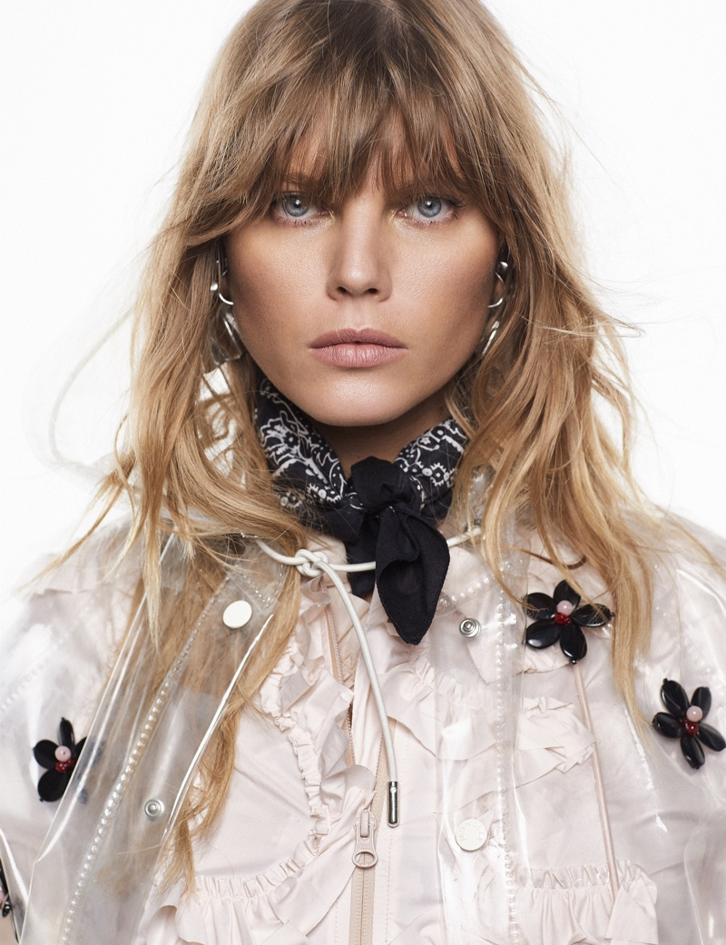 Maryna Linchuk Poses in Casual Cool Looks for ELLE Spain