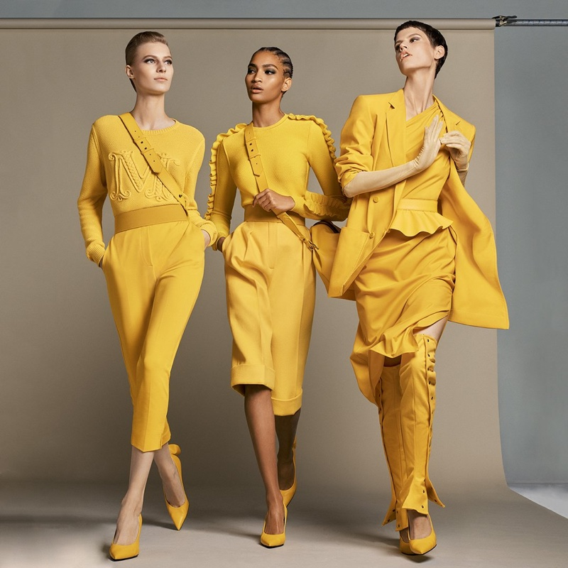 Yellow takes the spotlight in Max Mara spring-summer 2019 campaign