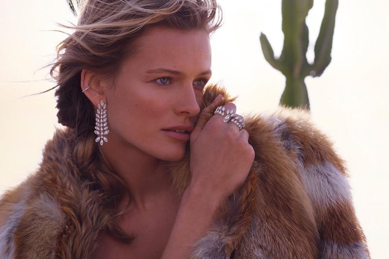 Edita Vilkeviciute dazzles in diamonds for Messika Born to Be Wild jewelry campaign