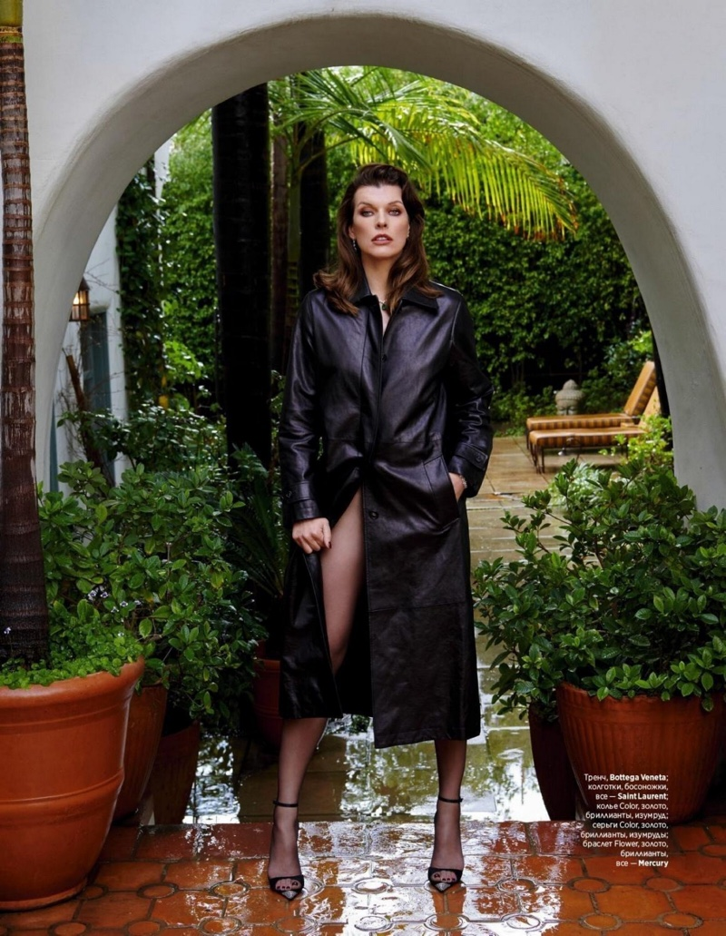 Milla Jovovich Embraces Elegant Outfits for InStyle Russia