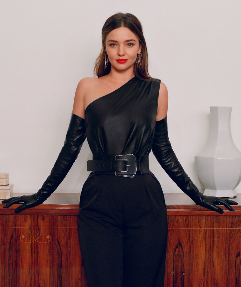 Miranda Kerr Poses in Sleek Fashions for InStyle