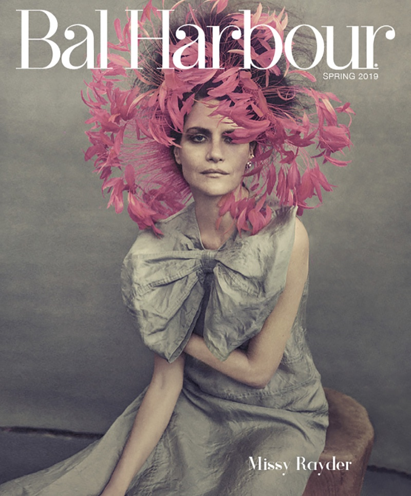 Missy Rayder is In Full Plume for Bal Harbour Cover Story