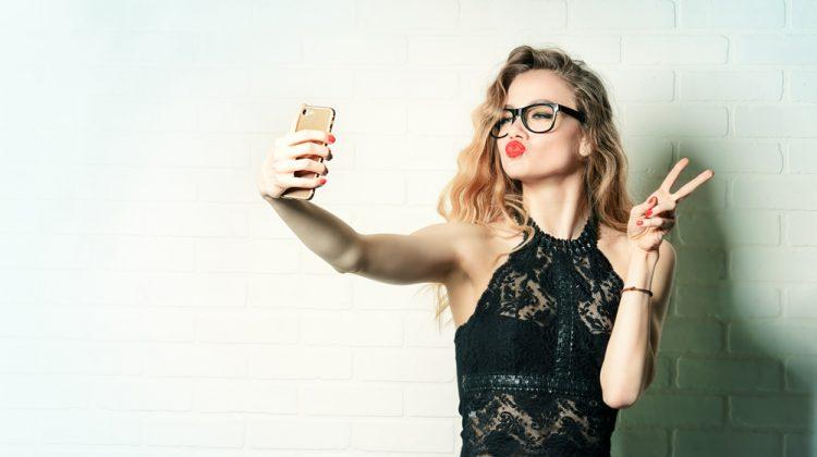 Model Taking Selfie