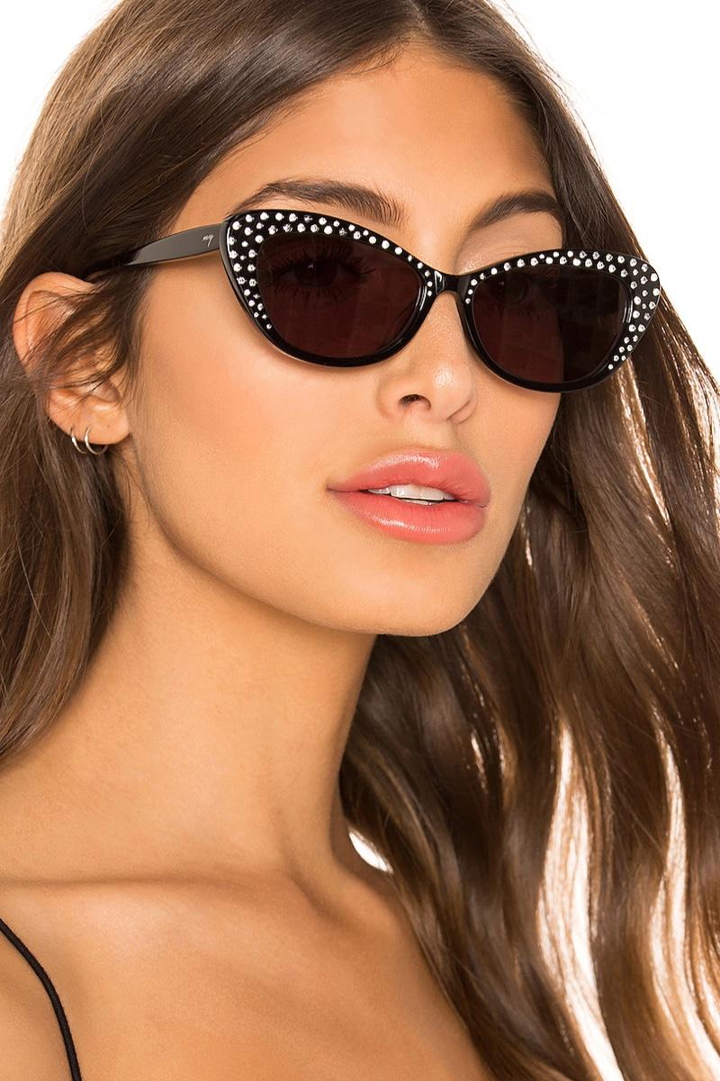 My My My Franky Sunglasses in Black Crystal $108