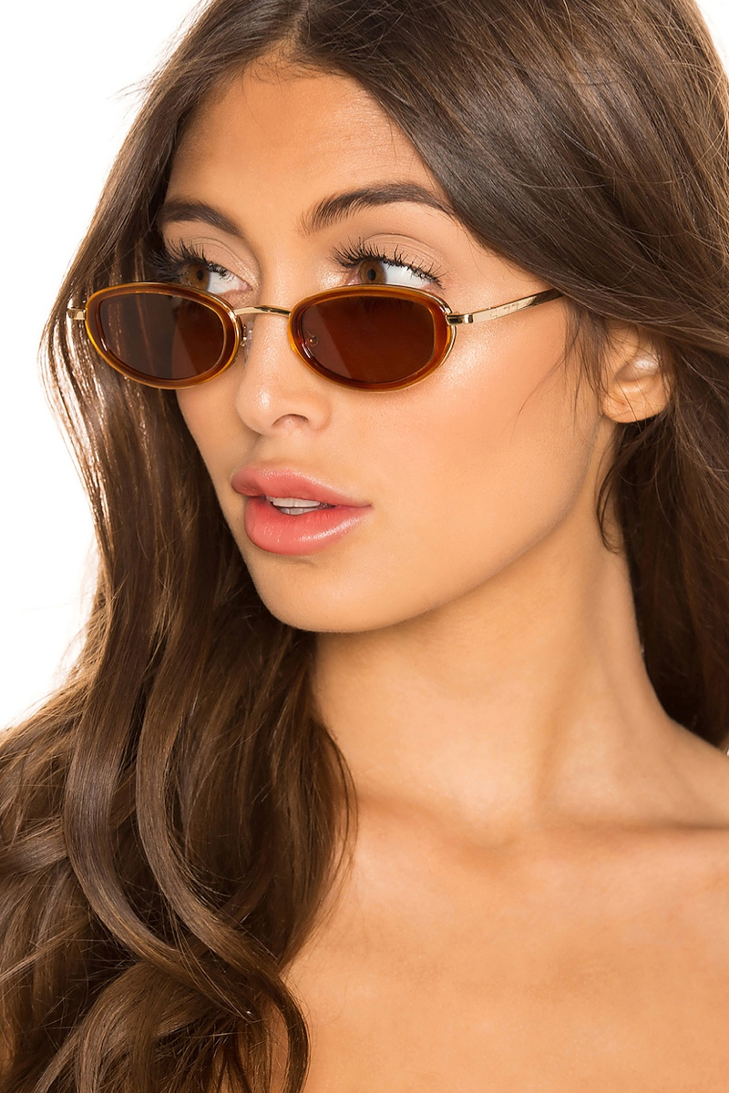 My My My Wyst Sunglasses in Gold with Brown Lenses $92