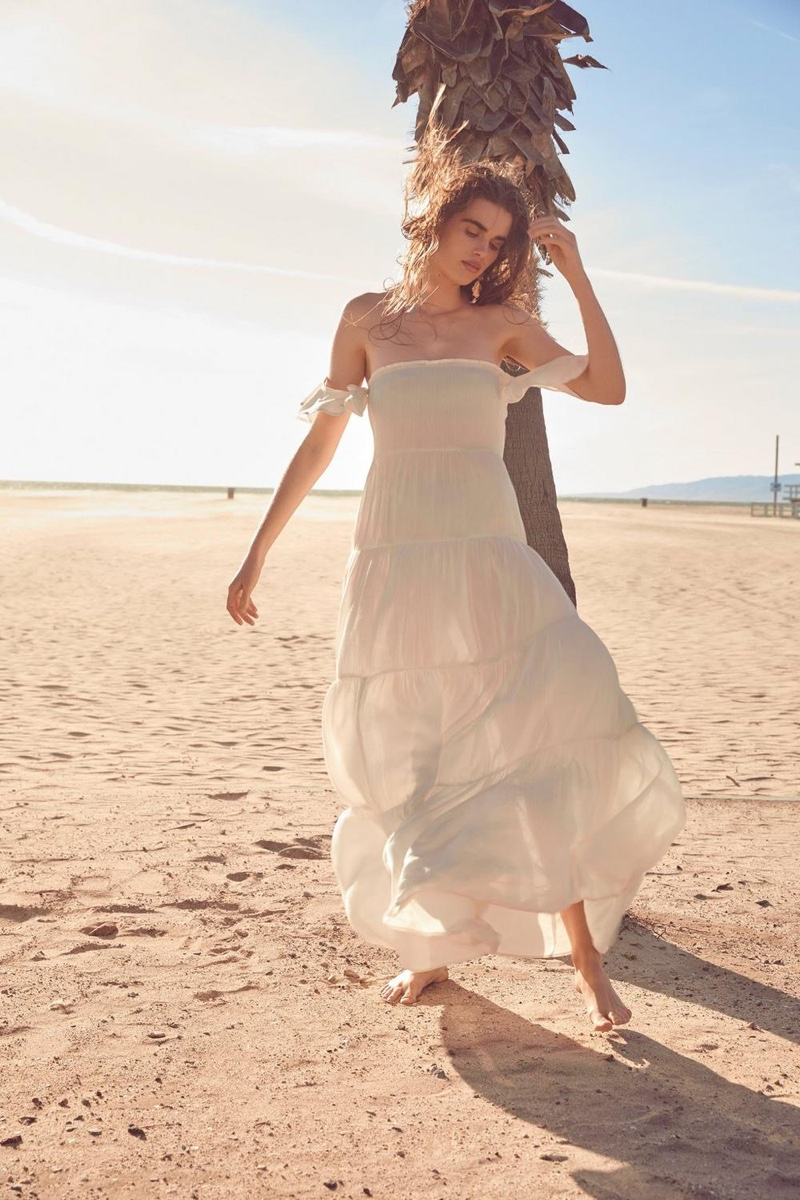 Nasty Gal Sleeve Early Off-the-Shoulder Maxi Dress $25