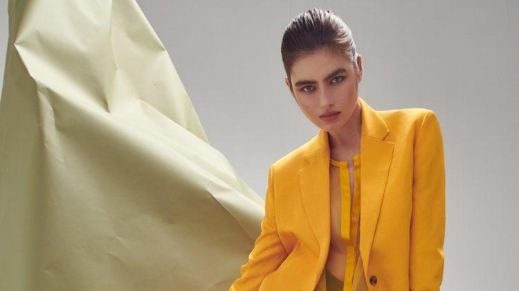 Nastya Zakharova Wears Spring Colors for ELLE Germany