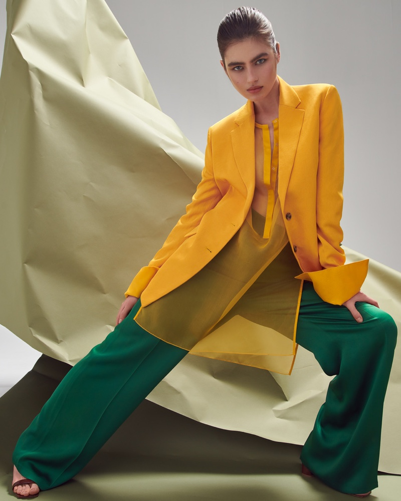 Nastya Zakharova Wears Spring Colors for ELLE Germany