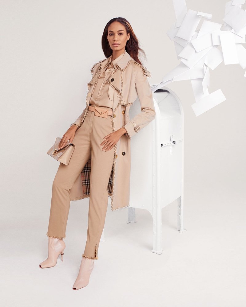 Dressed in Burberry, Joan Smalls fronts Neiman Marcus spring 2019 campaign