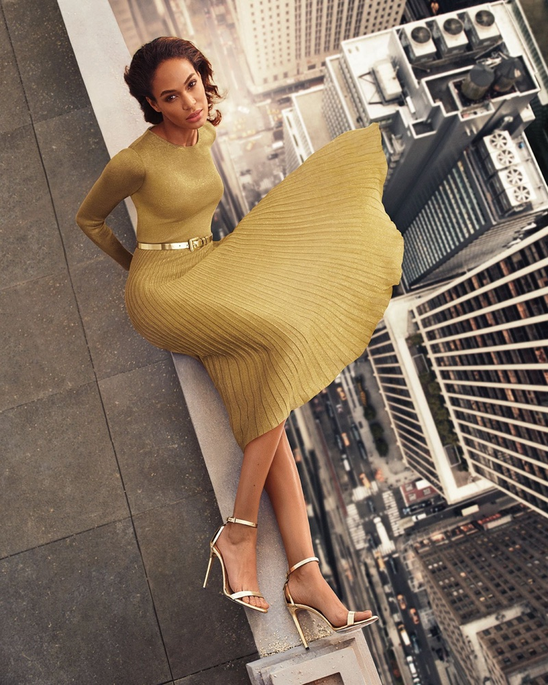 Joan Smalls poses in Ralph Lauren Collection for Neiman Marcus The Art of Fashion spring 2019 campaign