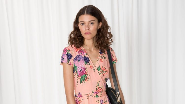 & Other Stories Floral Print Wrap Dress $48 (previously $95)