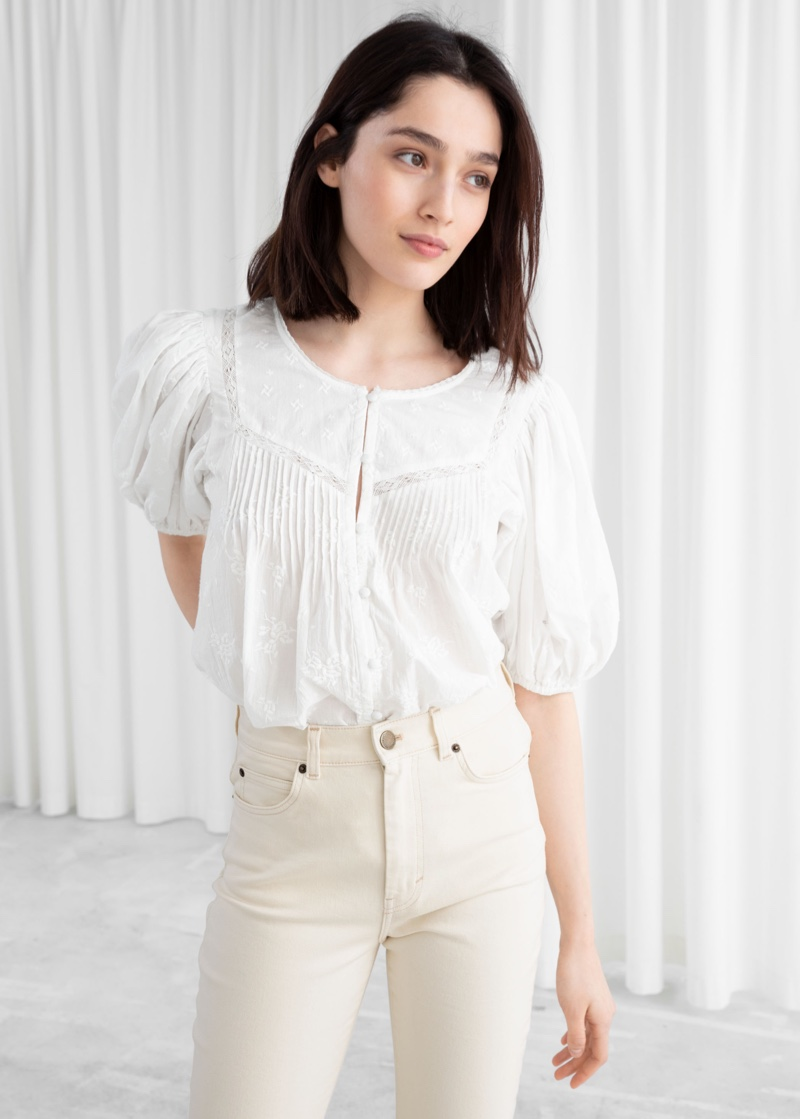 & Other Stories Floral Shuffle Organic Cotton Blouse $59