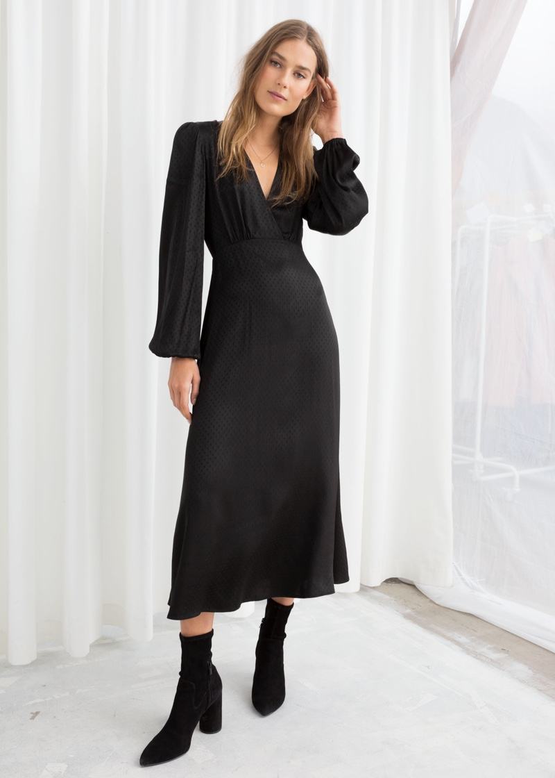 & Other Stories Jacquard Empire Midi Dress $69 (previously $99)