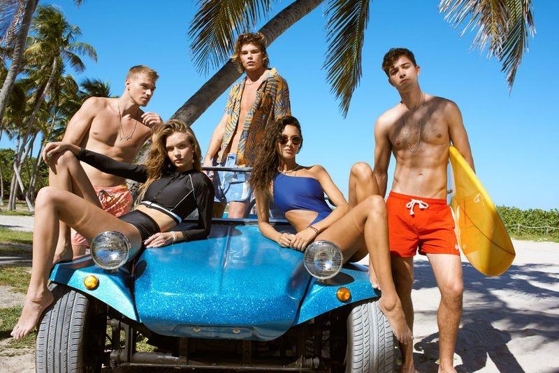 Penshoppe taps Josephine Skriver, Lais Ribeiro, Francisco Lachowski, Jordan Barrett and Matthew Noszka for Swim 2019 campaign