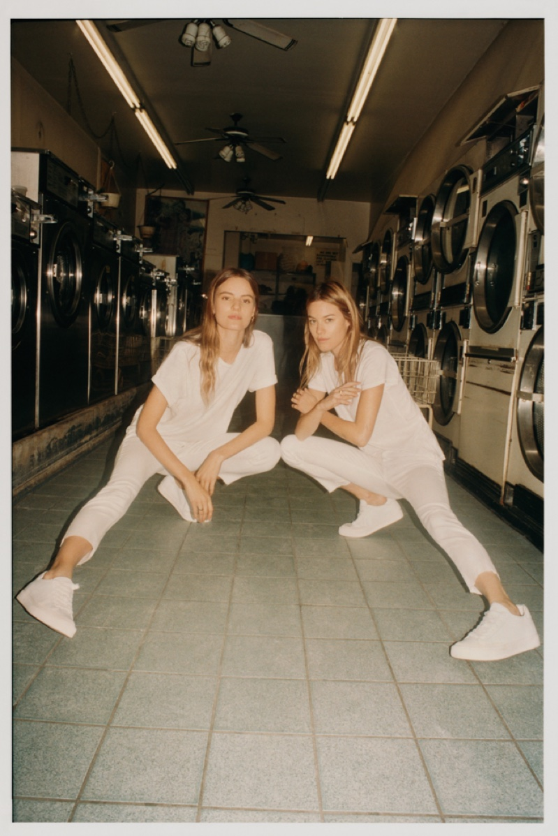Camille Rowe and Tilda Lindstam front Rag & Bone March 2019 Denim project
