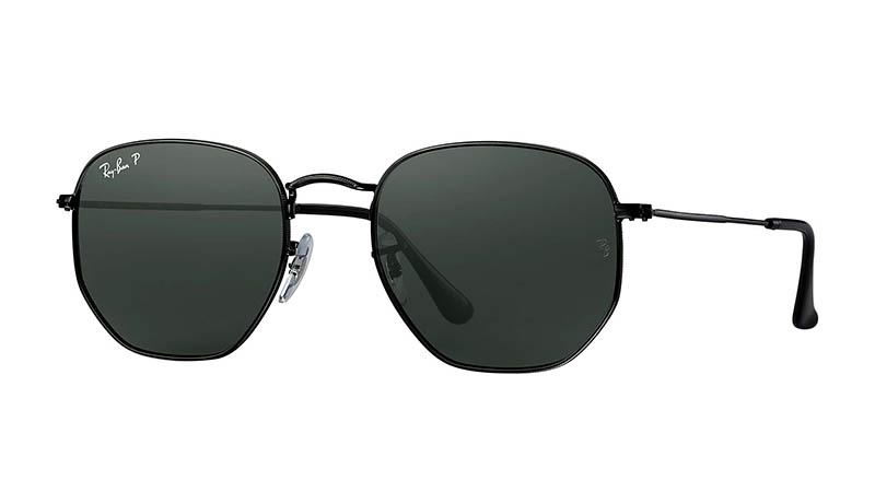 Ray-Ban Hexagonal Flat Sunglasses in Black $203