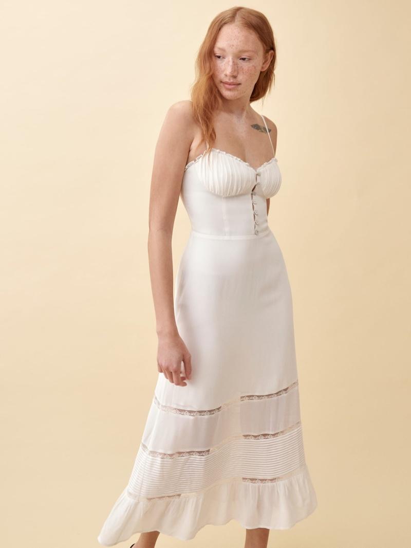 Reformation Harvest Dress in Ivory $298