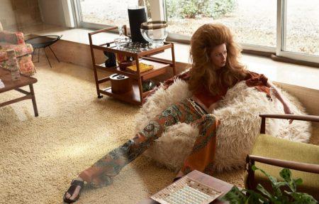 Rianne van Rompaey Models Retro Looks for W Magazine