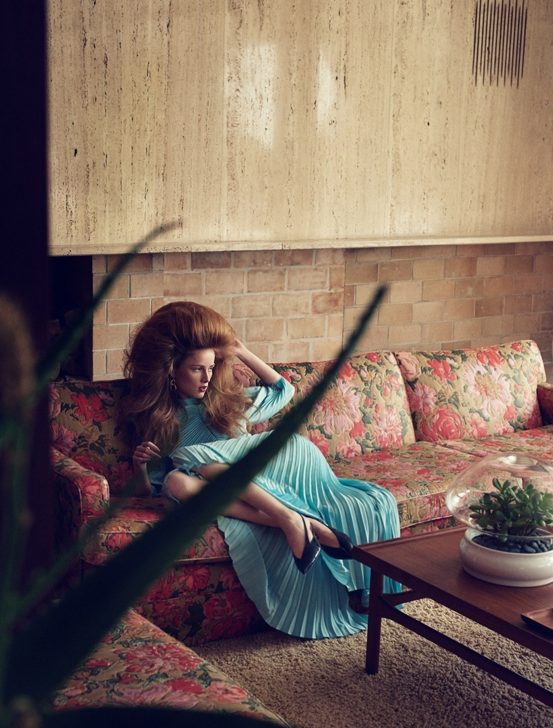 Rianne van Rompaey Models Retro Looks for W Magazine