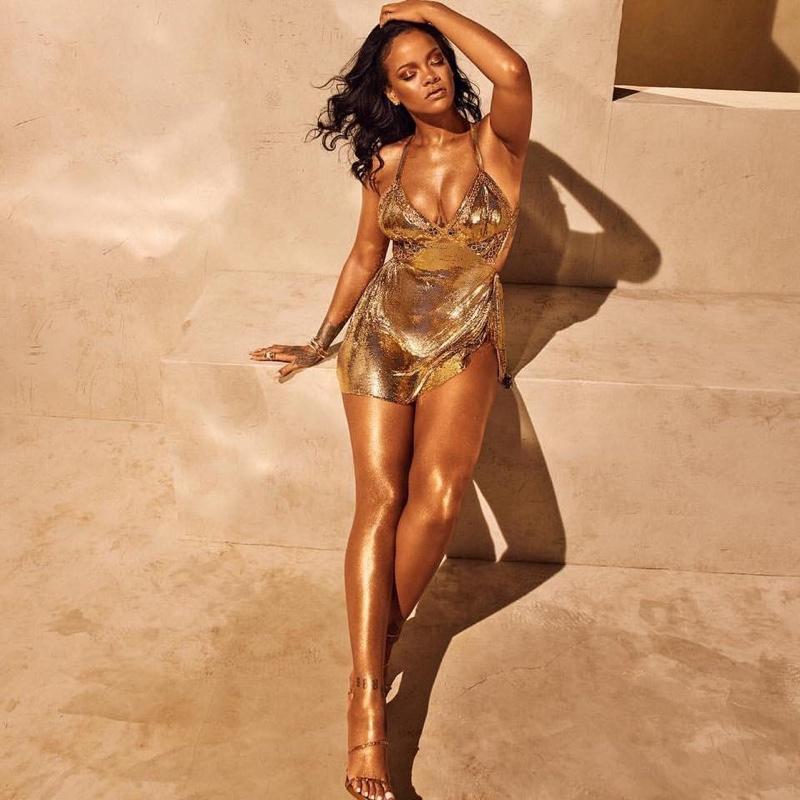 Rihanna stars in Fenty Beauty Body Lava campaign