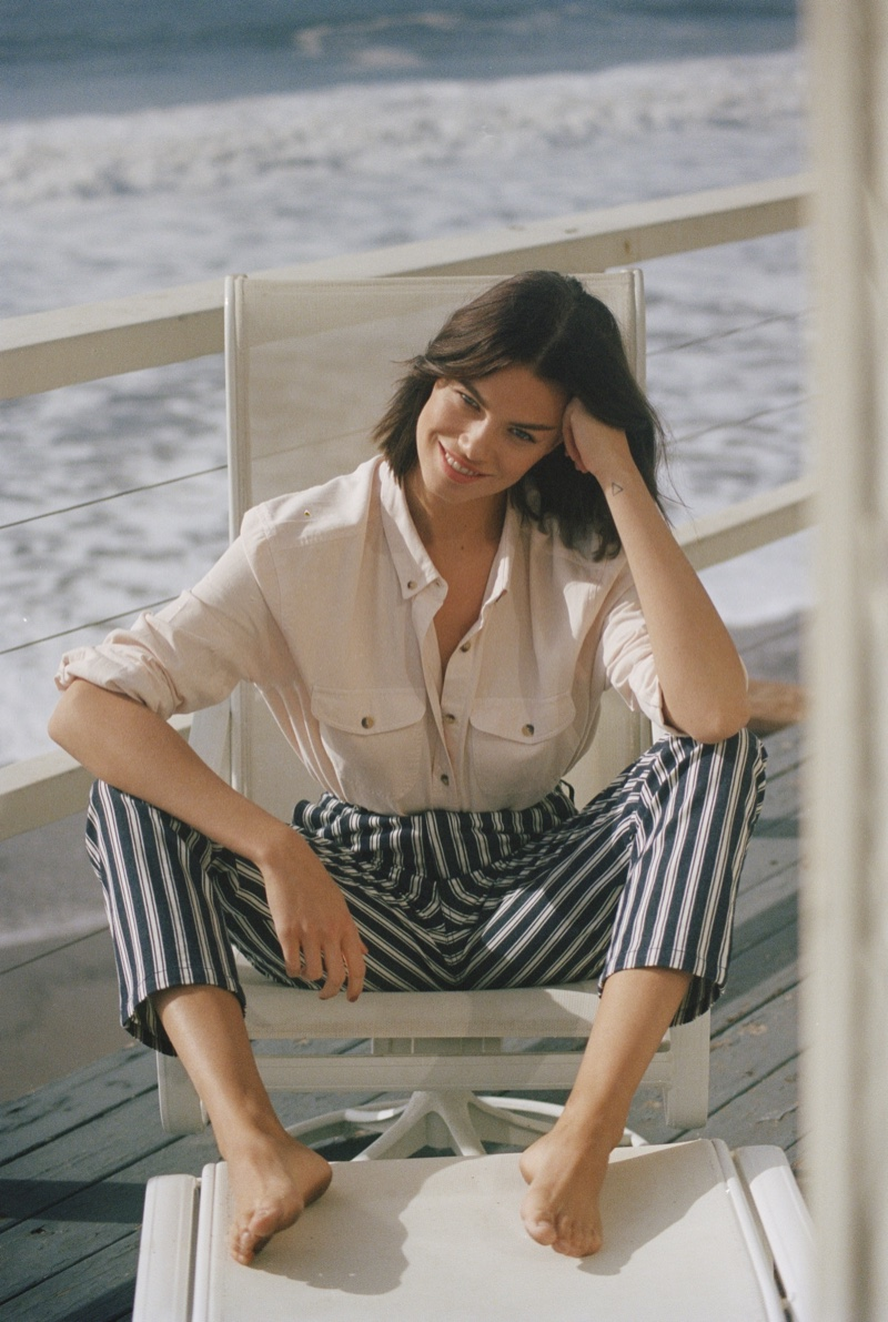 Rolla's Denim features stripe styles in spring 2019 campaign