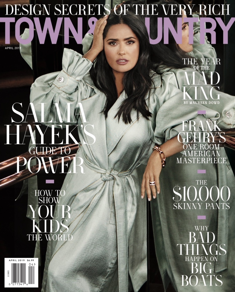 Salma Hayek on Town & Country Magazine April 2019 Cover