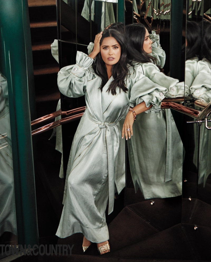 Salma Hayek Strikes a Pose for Town & Country Magazine