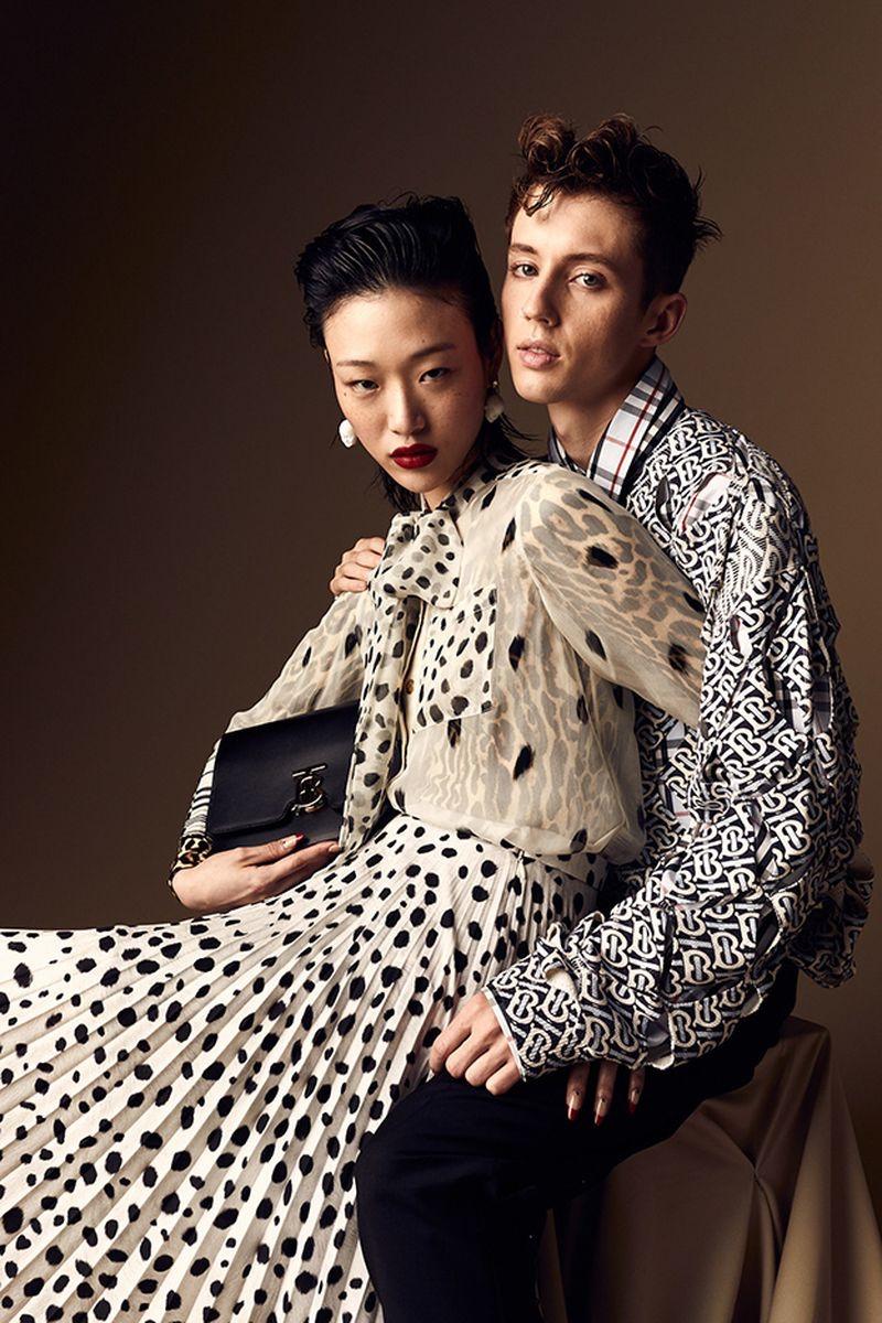 Sora Choi Wears Burberry Designs for W Korea