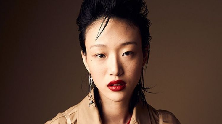 Sora Choi Wears Burberry Designs for W Korea