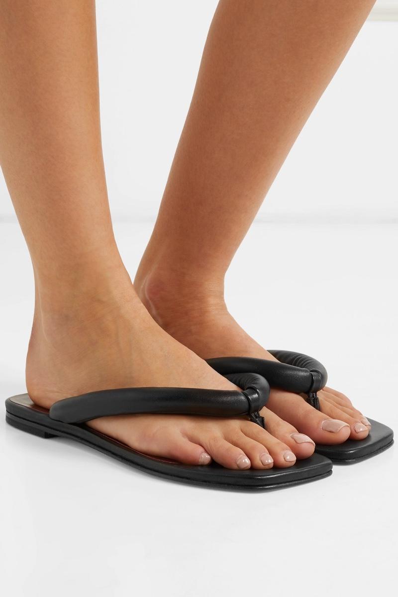 Staud Rio Leather Sandals $225