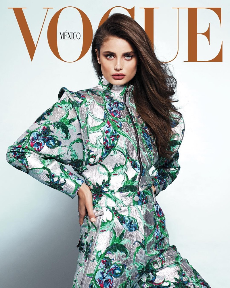 Taylor Hill Models Utilitarian Glam Looks for Vogue Mexico