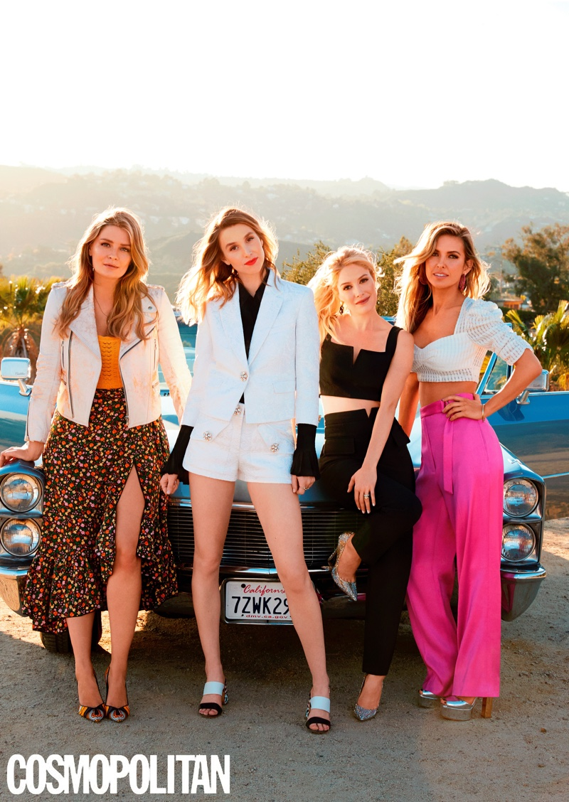 The cast of The Hills reboot poses for Cosmopolitan Magazine