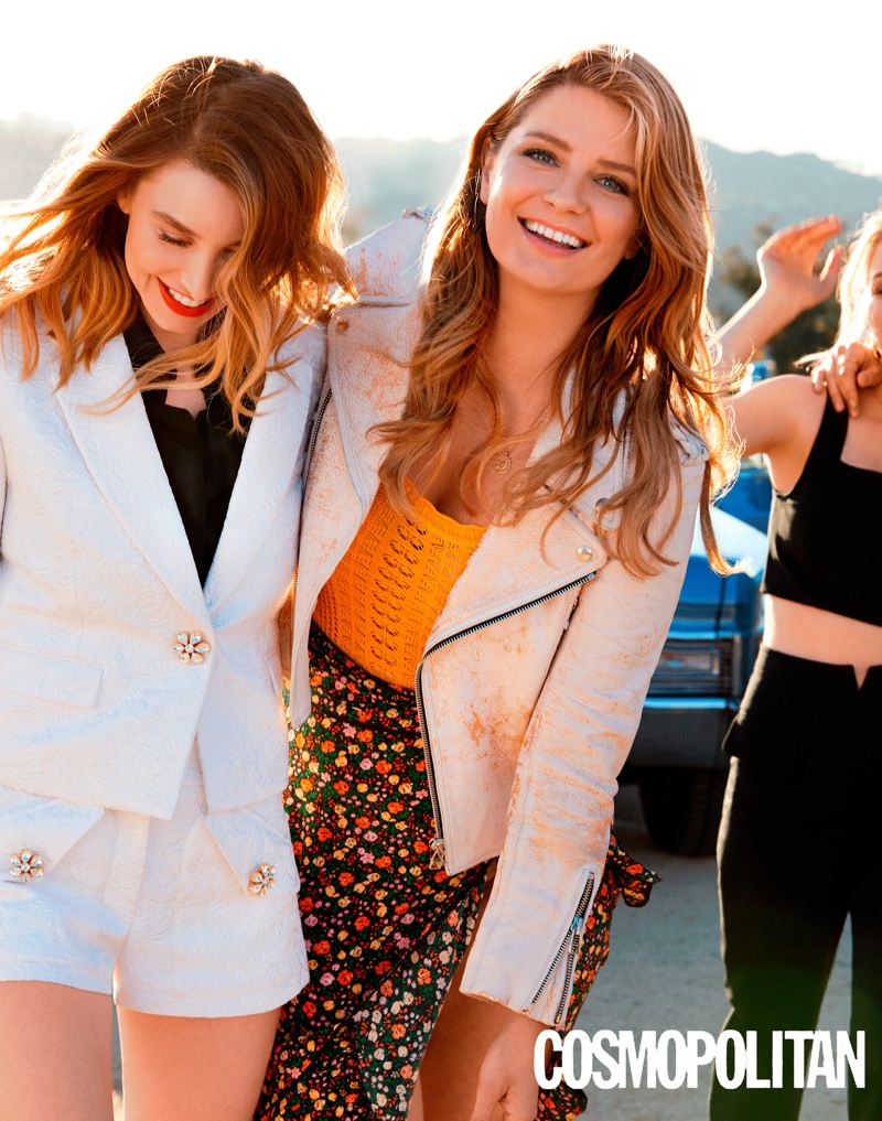 Whitney Port and Mischa Barton are all smiles in this shot