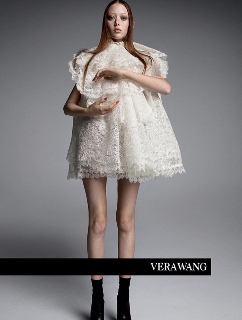 Sara Grace Wallerstedt stars in Vera Wang spring-summer 2019 campaign