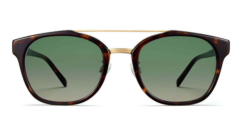 Warby Parker Fairfax Sunglasses in Cognac Tortoise with Polished Gold $145